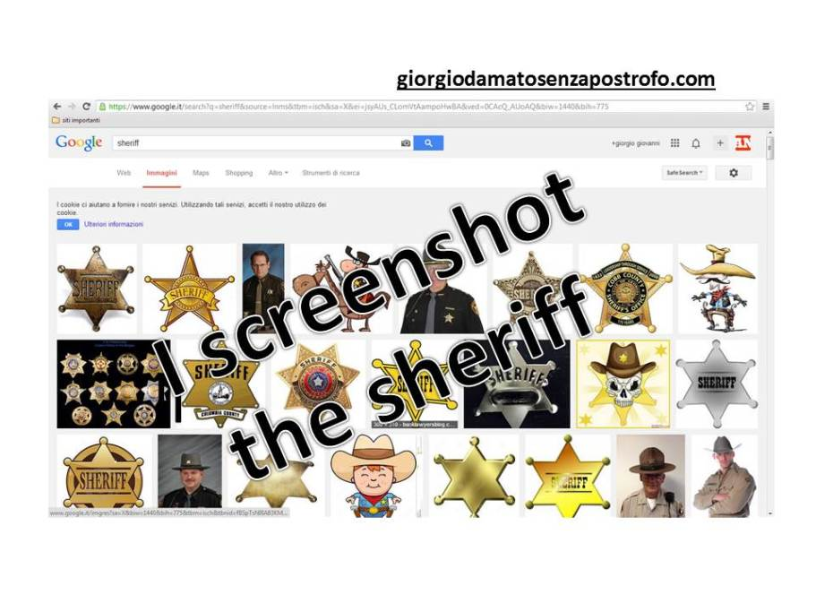 I screenshot the sheriff